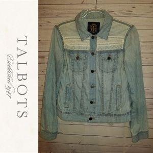 Talbots Lace Trim Jean Jacket | Size 10